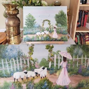 Beautiful Shepherd Girl Painting